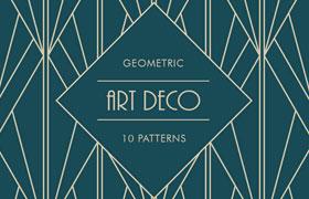 10款几何图案平铺背景,AI源文件