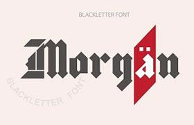Morgan 哥特风格英文字体