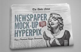 旧报纸展示PSD模板