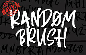 Random Brush 手绘英文字体