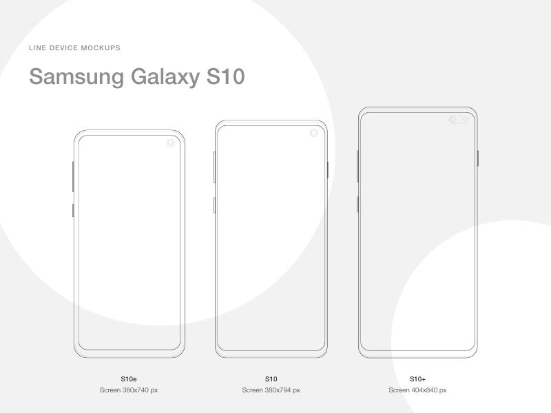 三星 Galaxy S10 线稿图,AI sketch源文件