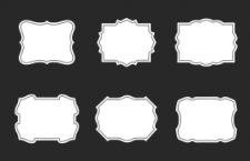 30款复古框架ps形状,csh psd格式