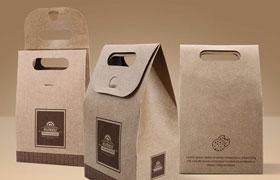 4K牛皮纸袋包装展示模板,PSD格式