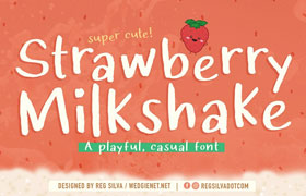 Strawberry Milkshake 草莓奶昔有趣英文字体