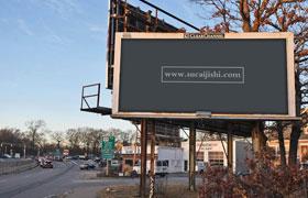 户外巨幅广告牌,PSD格式