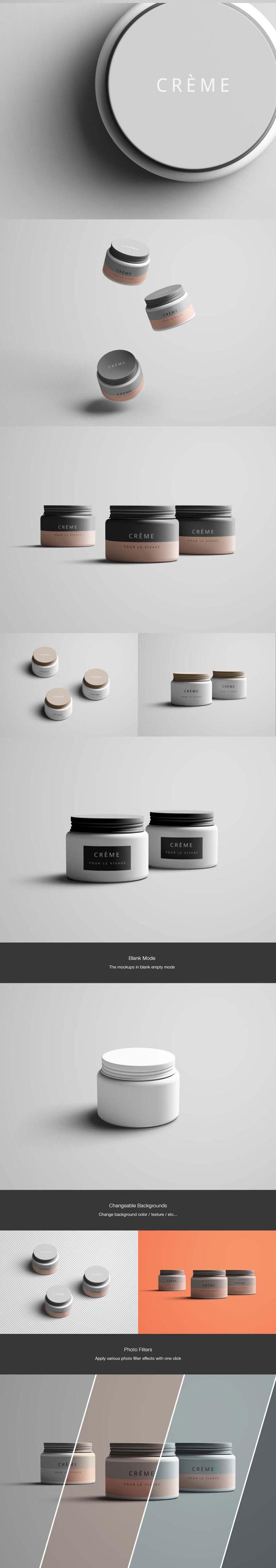 护肤霜品牌展示模板,PSD格式