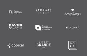 15款简约Logo模板,PSD AI 源文件