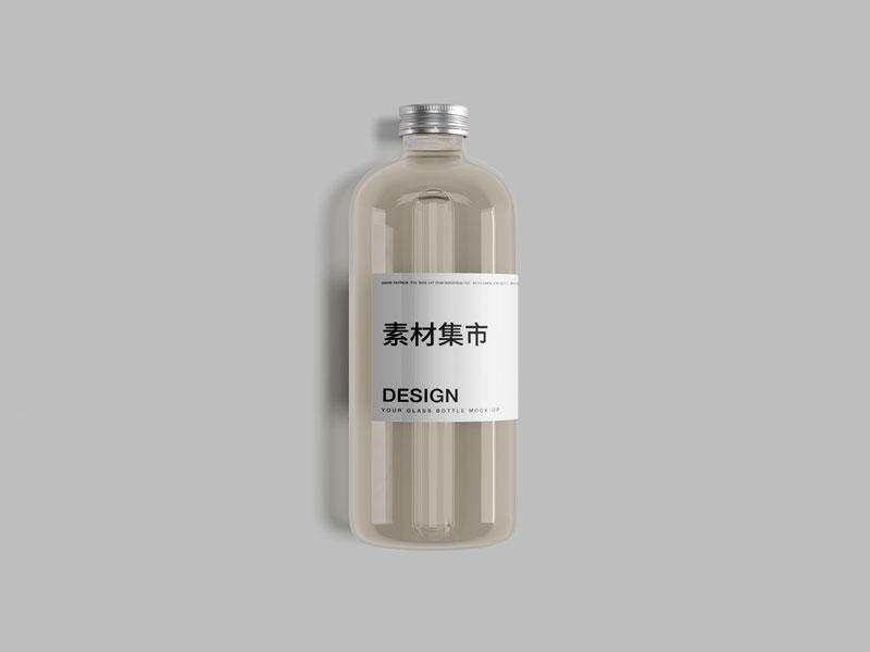 无印良品塑料瓶VI模板,PSD格式