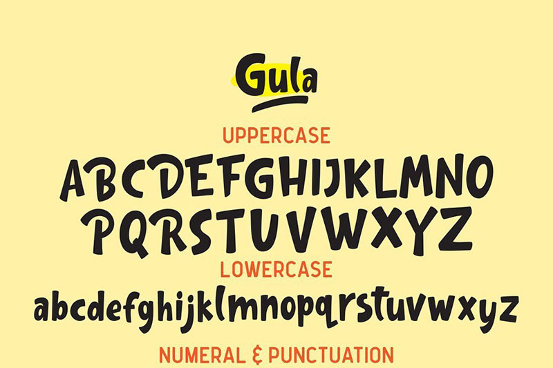 Gula FREE 有趣的英文字体