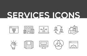 35枚服务图标,AI源文件