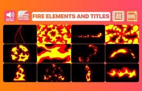 AE模板 | MG动画火焰过场动效素材