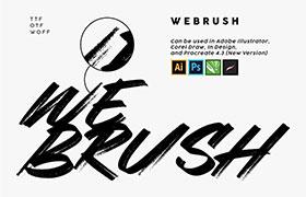 webrush 涂鸦风格英文字体