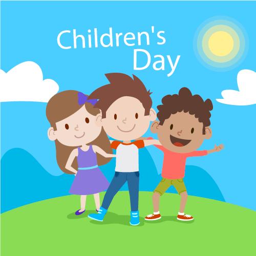 4张儿童节插图,AI源文件
