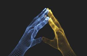 17款科技感数码粒子<font color=red>手势</font>素材,AI源文件