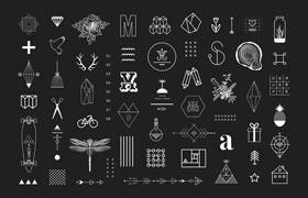 100+几何图形矢量素材,AI源文件