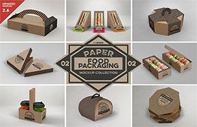 8款外卖包装盒样机模板,PSD格式