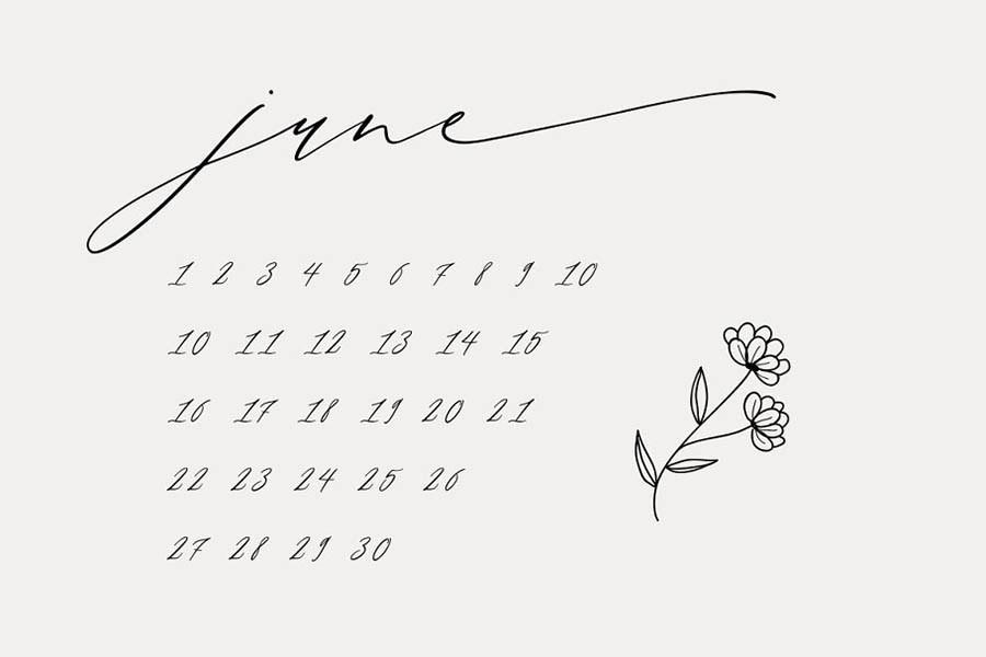 Month Glade 优雅英文字体