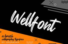 Wellfont 手写英文字体