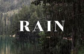 5K高清下雨JPG叠加图片