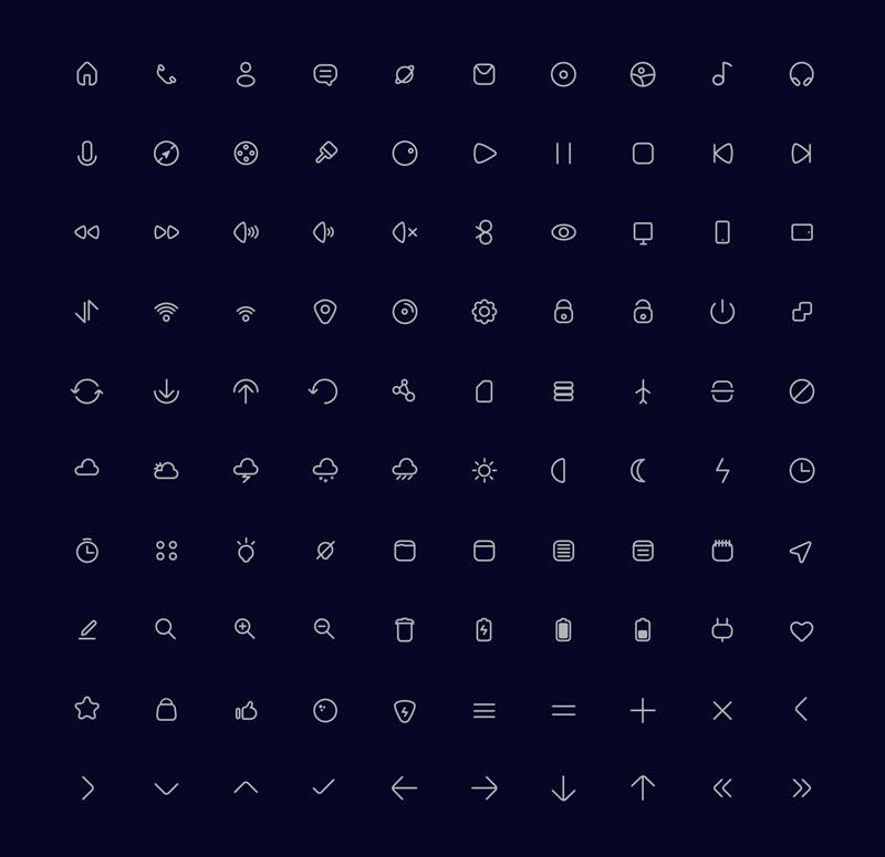 100枚可爱小图标,AI源文件