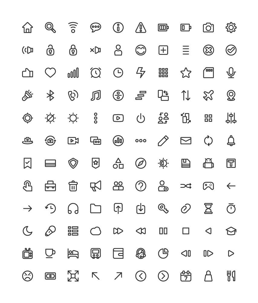 120枚UI图标,AI源文件