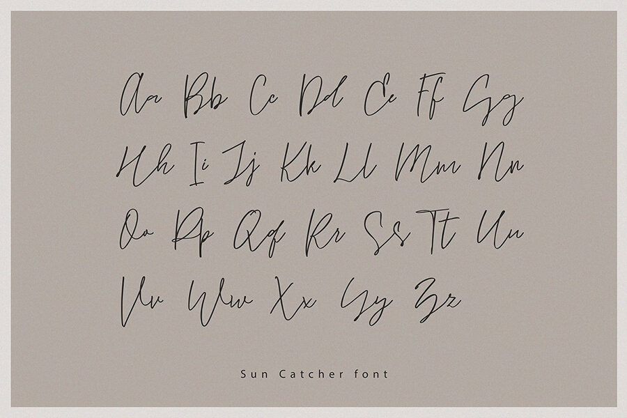 Sun Catcher 签名英文字体