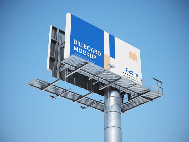 多角度户外广告牌,PSD格式