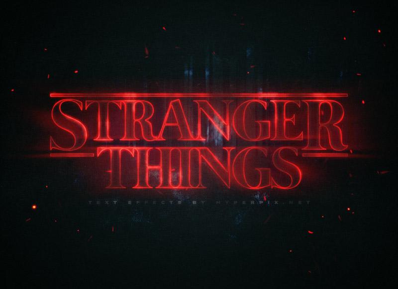 怪奇物语 Stranger Things 海报字体样式,PSD源文件
