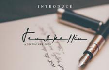 Jengkellin 签名风格英文字体