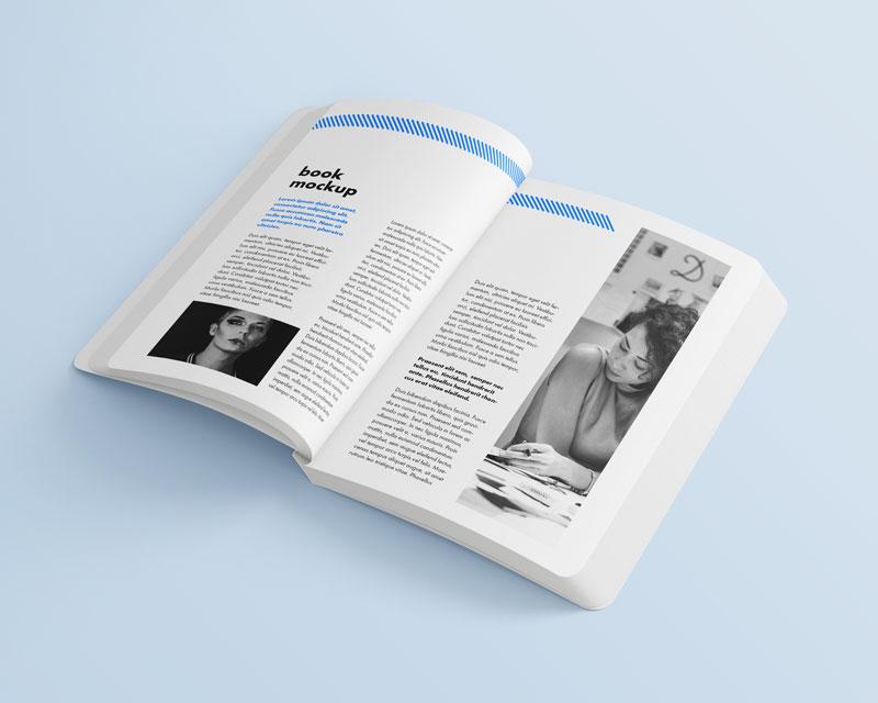 书本包装设计展示样机,PSD格式
