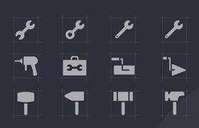 24枚装修工具图标,AI XD Sketch源文件