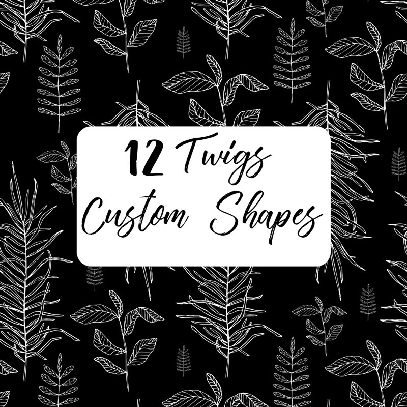 12个植物枝叶形状,csh格式