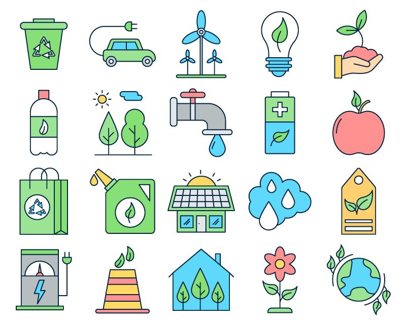 20枚环保图标,AI源文件