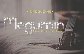 Megumin 英文字体