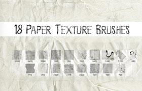 18种复古纸张纹理背景PS笔刷