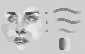 CG人物表情绘画PS笔刷