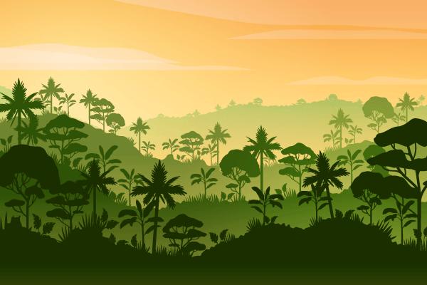 6张扁平化风景插图,Ai源文件