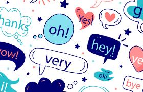 可爱卡通气泡框,Ai源文件