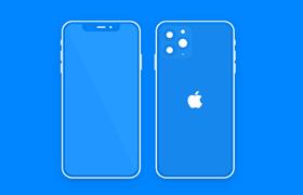 iPhone 11 Pro 线稿样机,sketch格式