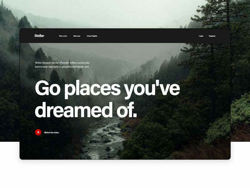 高端旅游网站模板,XD源文件