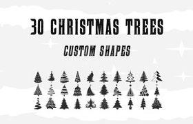 30款圣诞树ps形状,csh格式