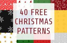 40款圣诞节主题无缝填充图案,pat格式