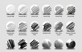 32种素描常用Photoshop画笔