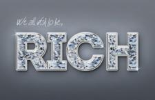3D钻石字体效果,PSD源文件