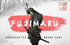 Fujimaru 日本武士风格英文字体