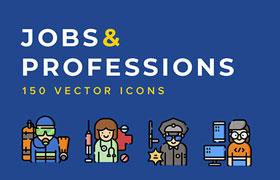 50枚职业人物形象图标,PNG SVG格式