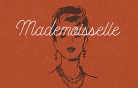 Mademoiselle 复古连笔英文字体