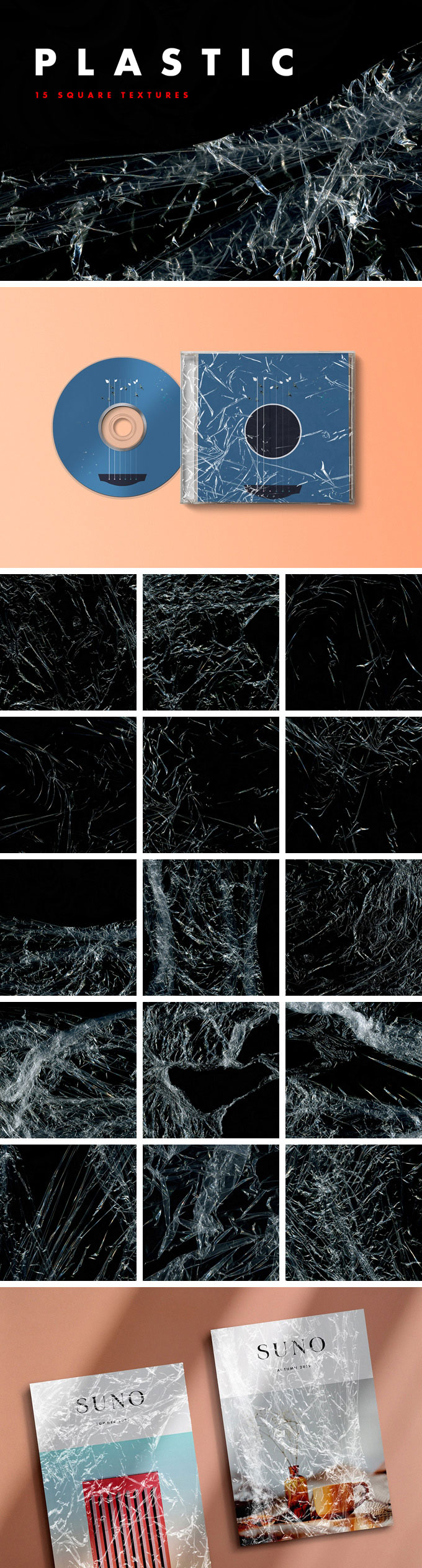 15张塑料薄膜PNG免抠图