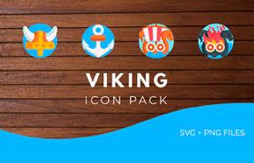 50枚维京海盗游戏图标,SVG PNG格式