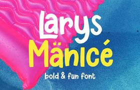 Larys Manice 有趣的POP风格英文字体
